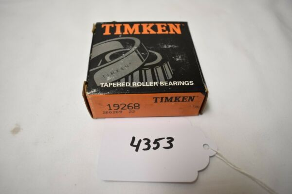 (4353) Timken 19268 Tapered Roller Bearing Cup