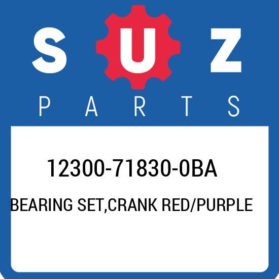 12300-71830-0BA Suzuki Bearing set,crank red/purple 12300718300BA, New Genuine O