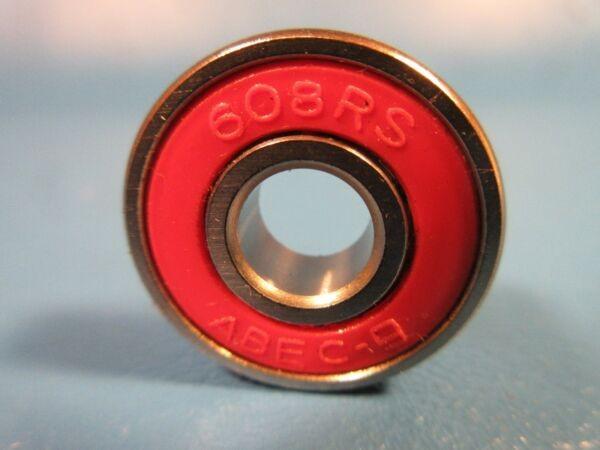 608 2RS Single Row Radial Bearing (SKF, NTN, FAG 2RSR, KOYO, NSK VV)