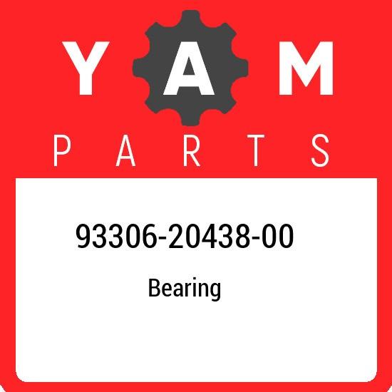 93306-20438-00 Yamaha Bearing 933062043800, New Genuine OEM Part
