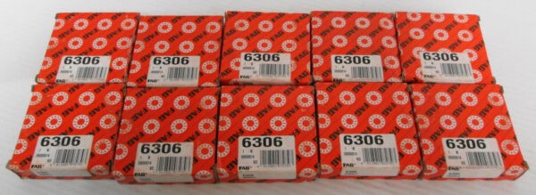 (10) Fag 6306 Single Row Ball Bearing