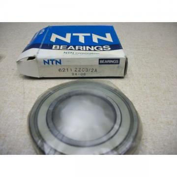 NTN 6211ZZ 6211-zz Double Shielded Bearing 55mm x 100mm x 21mm