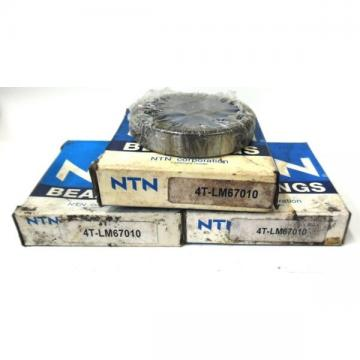 """NTN TAPERED ROLLER BEARING CUP 4T-LM67010, 2.328"""" OD, 0.465"""" WIDTH, LOT OF 3"""